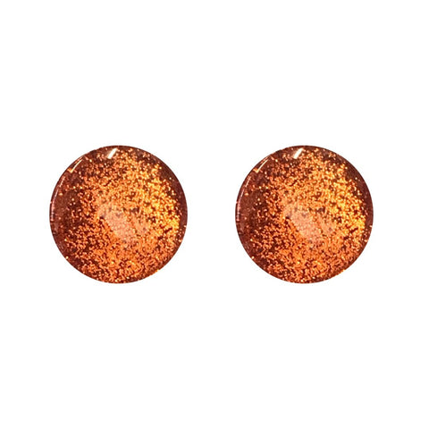Behind the Door Jewellery and Accessories Copper Metallic Glass Stud Earrings