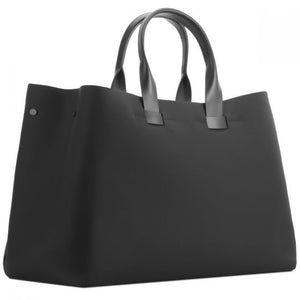 TROUBADOUR FABRIC + LEATHER TOTE BLACK