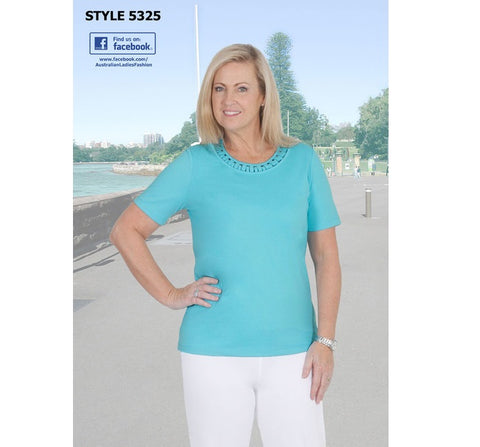 Jillian Loop Neck T Shirt