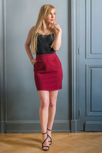 BURGUNDY ALTONA SKIRT - MADE IN FRANCE -  WITH INTEGRATED SENSOR