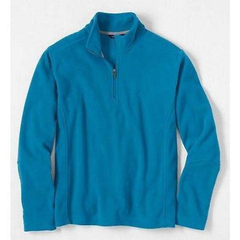 Lands End 418136 Polartec Aircore 100 Halfzip Fleece Jacket XXL 2XL Turkish Blue