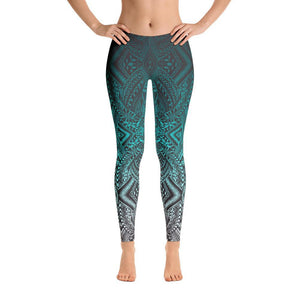 Hanau Tattoo Leggings (Metallic Green)