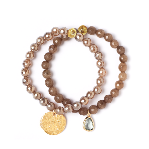 LYRA MYSTIC BROWN STRETCH BRACELET SET