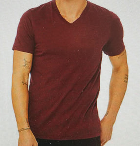 Plain V-neck Maroon with antiprint technology