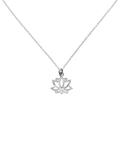 SHANASA STERLING SILVER CHARM NECKLACE - BEAUTY