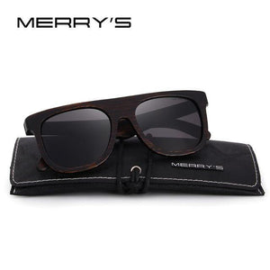 MERRY'S Wood Polarized Sunglasses HAND MADE 100% UV Protection