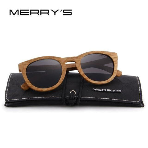MERRY'S Wooden Sunglasses 100% UV Protection