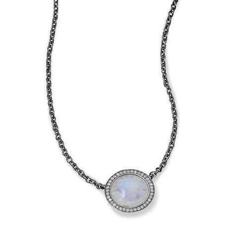 MIDNIGHT COLLECTION NECKLACE WITH GRAY DIAMONDS