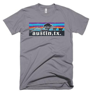 AUSTIN STEER 360 BRIDGE SKYLINE MEN'S T-SHIRT