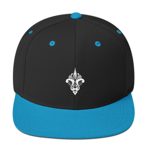 Diamonds Embroidered Snapback Hat