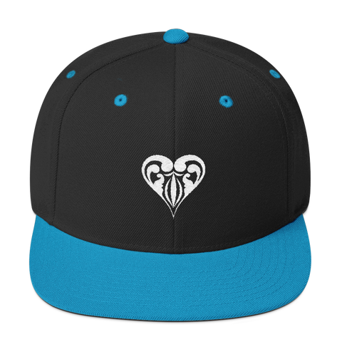 Hearts Embroidered Snapback Hat