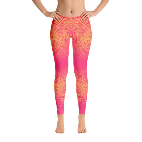 Sunset Tribal Tattoo Legging