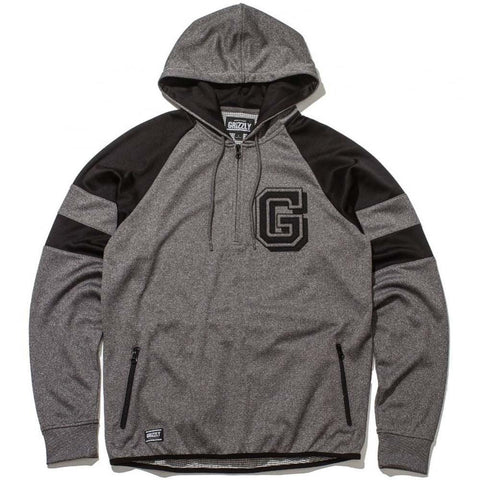 GRIZZLY FULL COURT HALF ZIP HOODIE