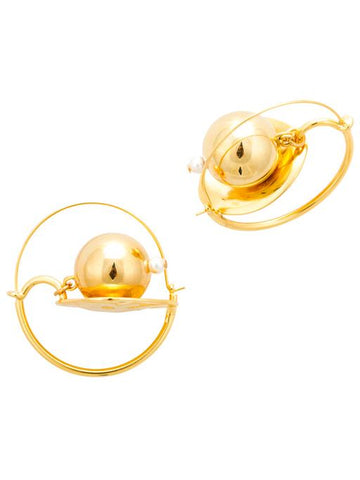 Gold Horizon Mini Hoop Earrings