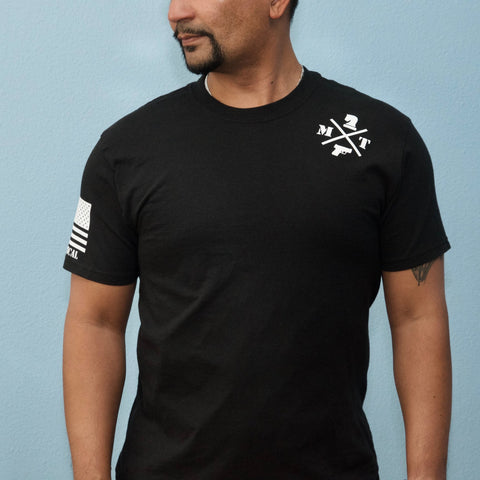 Mens round neck concealed carry t-shirt