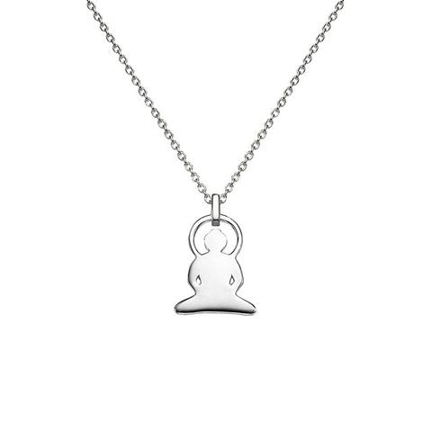 Buddha Necklace in Silver
