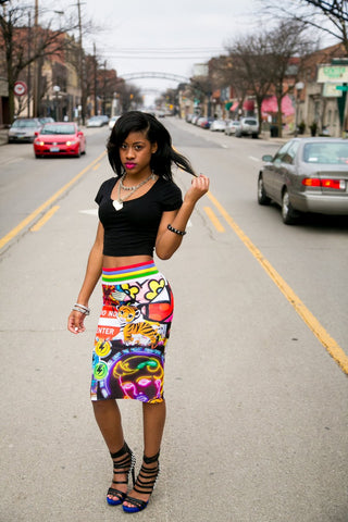 Neo Miss Kisses Pencil Skirt