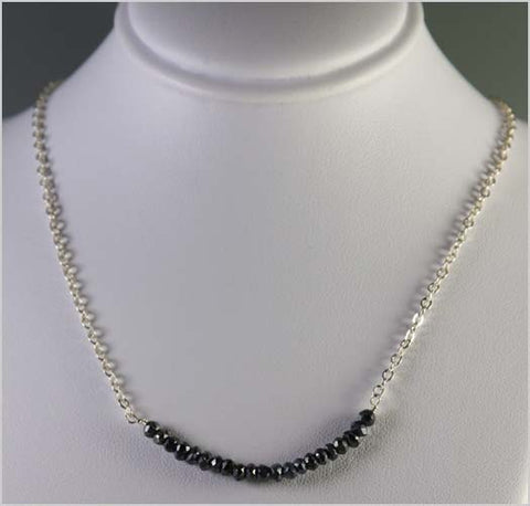 Black Spinel and Sterling Silver Necklace