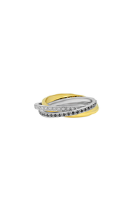Triple Rolling Ring in 14K Yellow Gold
