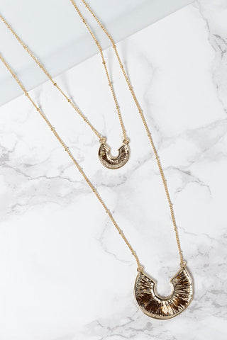 Double Layer Crescent Necklace