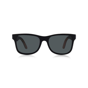CALIFORNIA WOOD FRAME SKATEBOARD SUNGLASSES (BLACK MAPLE)