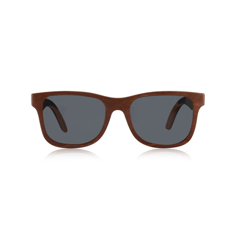 CALIFORNIA WOOD FRAME SKATEBOARD SUNGLASSES (BROWN MAPLE)