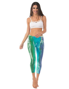 Capri Leggings - Cosmic Wash
