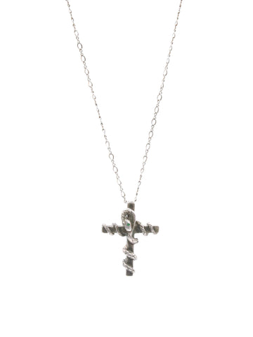 PAMELA LOVE SNAKE CROSS NECKLACE
