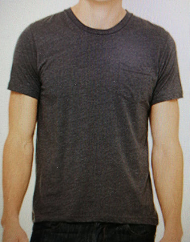 Pocket Tee Charcoal with antiprint technology