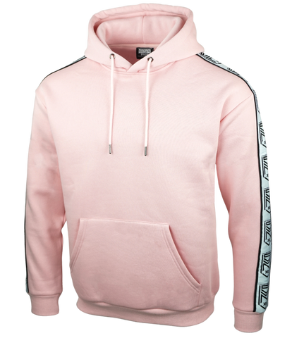 CREST TAPED BABY PINK HOODIE