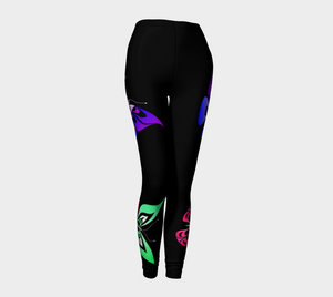 Butterfly Leggings (Artistic Black)