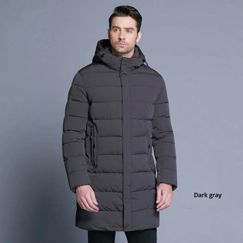 ASHORESHOP MENS 2019 OUTERWEAR LONG HIGH QUALITY BIO DOWN COAT DETACHABLE HOOD