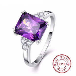 5.25CT AMETHYST GEMSTONE & 925 STERLING SILVER RING
