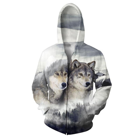 GRAY WOLVES ZIP-UP