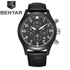 MEN'S LUXURY STYLED MILITARY LOOK ANALOG QUARTZ WATCH