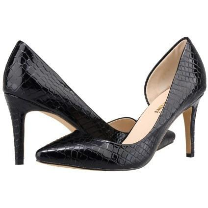 FAUX CROCODILE HIGH HEELS