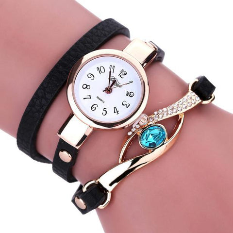 Fashion quartz bracelet Watch top brand leather strap