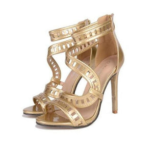 GLADIATOR OPEN TOE HEELS