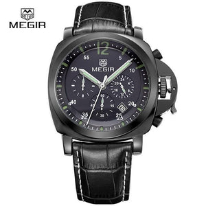 MEGIR Original Men Watch Top Band Luxury Chronograph Military Watches