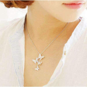 MULTIPLE BUTTERFLY NECKLACES