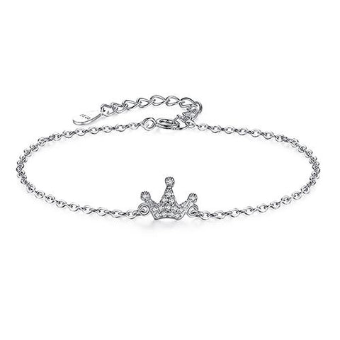 Crown Bracelet 925 Sterling Silver
