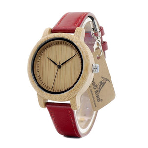 Leather Bamboo Wristwatch