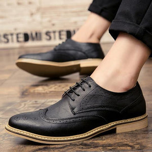 Casual Business Oxfords Men's Shoes 2018 Fashion Breathable PU leather Men's Flats Footwear