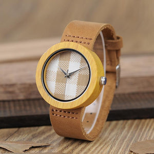 Casual Ladies Bamboo Wooden Wristwatch