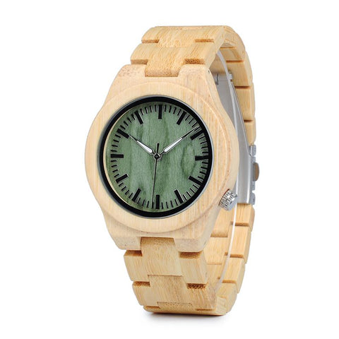 Bamboo Wood Quartz Watch
