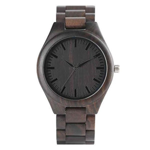 Full Wood Watch with Wooden Bands and Quartz Movement