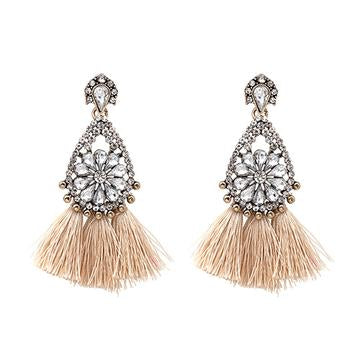 NUDE SYLVIE - NEW TRENDY ETHNIC BOHEMIA TASSEL EARRINGS