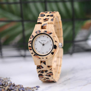 STYLISH WATCH FOR WOMEN FROM WOOD AND, MODEL 2018