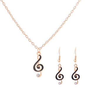 MUSICAL CLEF NOTE JEWELRY SETS FOR WOMEN