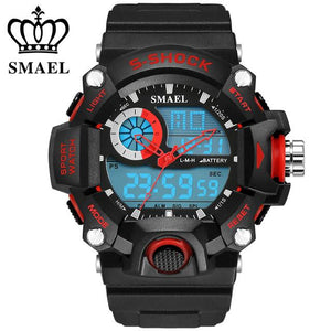 50M BIG DIAL WATERPROOF LED SPORTS LUXURY BRAND S SHOCK DIGITAL WRISTWATCH!